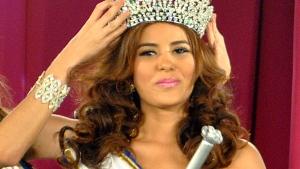 Maria Jose Alvarado crowned the new Miss Honduras in San Pedro, Sula, Honduras, on April 26, 2014. (AP)