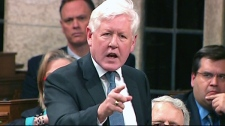 Interim Liberal Leader Bob Rae addresses Canada's drug policies during question period in the House of Commons in Ottawa, Wednesday, March 28, 2012.