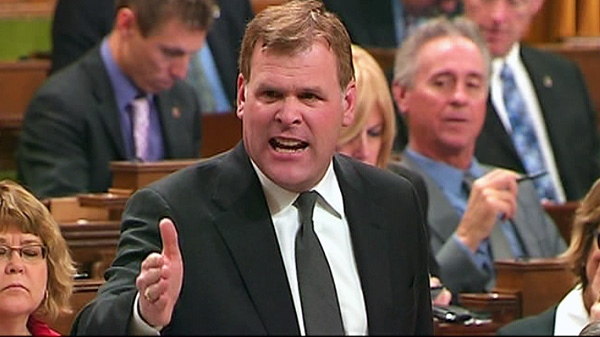 Foreign Affairs Minister John Baird responds to a question about Canada's drug policies during question period in the House of Commons in Ottawa, Wednesday, March 28, 2012.