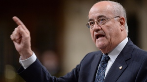 Minister of Veterans Affairs Julian Fantino responds to a question during question period in the House of Commons on Parliament Hill in Ottawa on Tuesday, Nov. 18, 2014. (Sean Kilpatrick / THE CANADIAN PRESS)