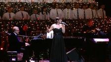 Kristen Fersovitch performs last holiday season with Edmonton's Singing Christmas Tree.