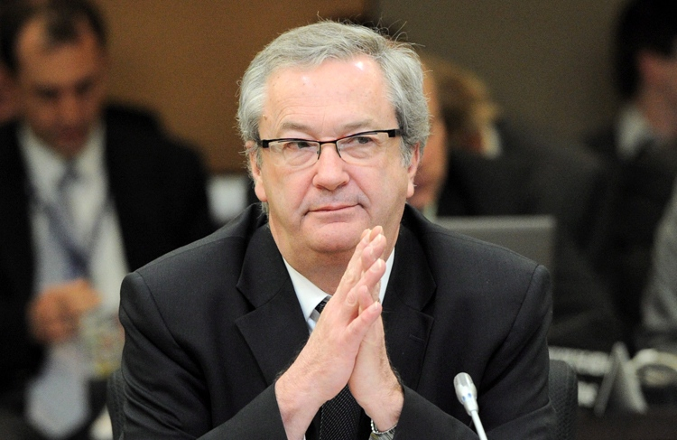 Chief Electoral Officer Marc Mayrand appears as a witness at a Commons house affairs committee in Ottawa on Thursday, March 29, 2012, to discuss allegations of wrongdoing during the last federal election. (Sean Kilpatrick /  THE CANADIAN PRESS)