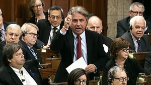 Liberal Veterans Affairs Critic Frank Valeriote speaks about the $1 billion in funds that went unspent by Veterans Affairs in question period in the House of Commons in Ottawa on Thursday, Nov. 20, 2014.