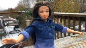 'Normal-looking' Barbie 'Lammily' has acne and cel