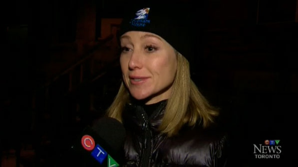 Belinda Stronach was one of several business leaders who took part in a campaign to raise money for Covenant House in Toronto on Thursday, Nov. 20, 2014.