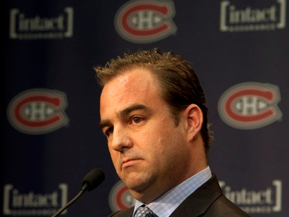 Montreal Canadiens owner Geoff Molson speaks to reporters Thursday, March 29, 2012, in Brossard, Que. (Ryan Remiorz/The Canadian Press)