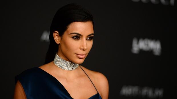 Kim Kardashian at the LACMA Art + Film Gala in Los Angeles on Nov. 1, 2014, in Los Angeles. (AP/ Jordan Strauss)