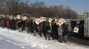Hundreds protest firefighter firings in Montreal