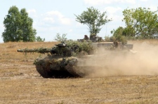 A file photo of an Leopard 2 A6M tank provided by the manufacturer. (Rheinmetall AG)