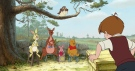 In this publicity image released by Disney, characters from left, Rabbit, Kanga, Roo, Piglet and Winnie the Pooh are shown in a scene from 'Winnie the Pooh.' (AP Photo / Disney)