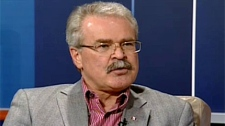 Federal Agriculture Minister Gerry Ritz speaks during an interview with CTV News on Friday.
