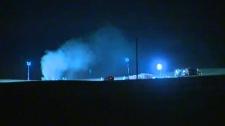 Sour gas well rupture  - crews