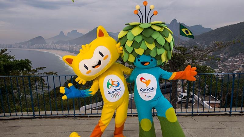 The mascots of Rio 2016 Olympics