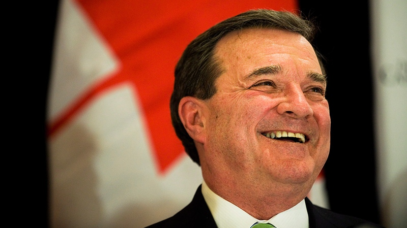 Finance Minister Jim Flaherty speaks about the 2012 Budget at the The Canadian Club of Toronto on Friday March 30, 2012. (Aaron Vincent Elkaim / THE CANADIAN PRESS)
