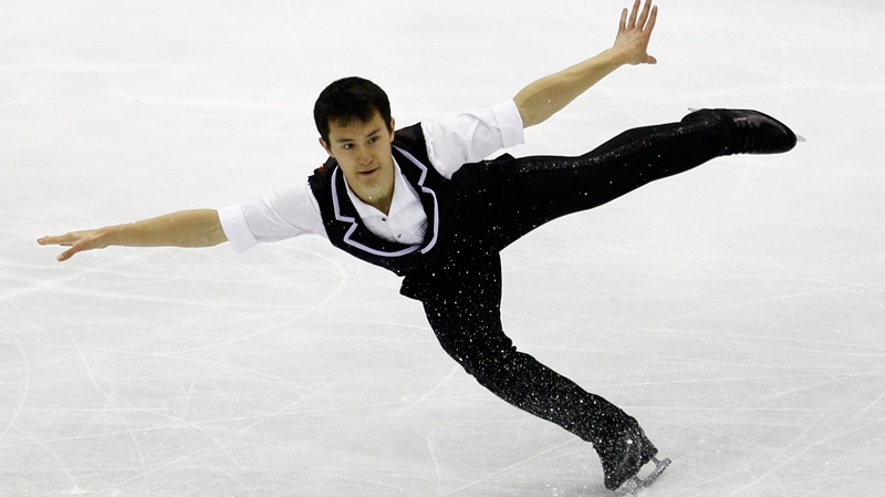 Patrick Chan of Canada performs his Men's short program at the ISU 2012 World Figure Skating Championships in Nice, southern France, Friday, March 30, 2012. (AP / Francois Mori)