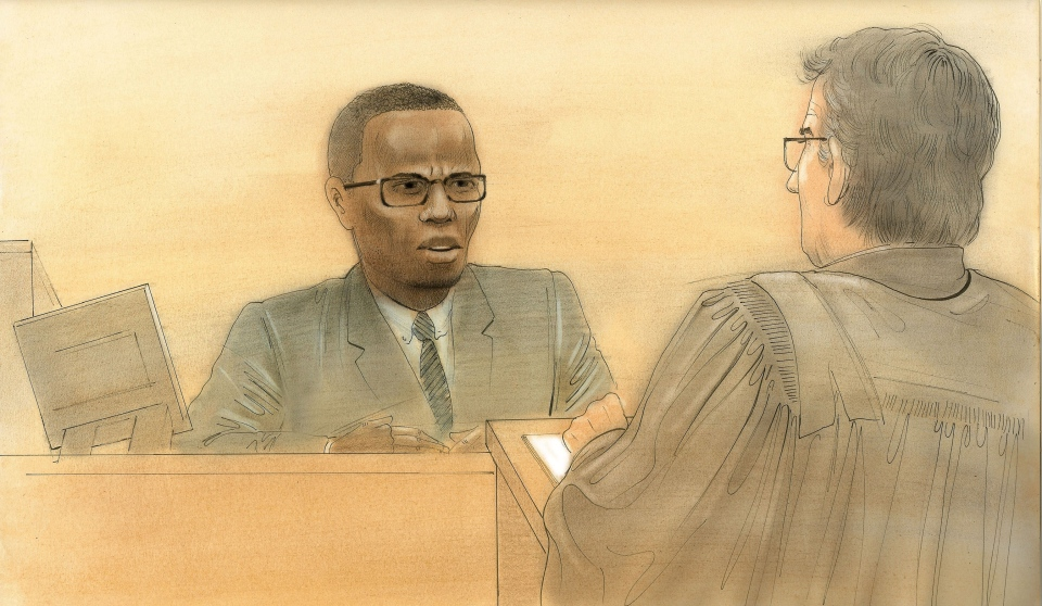 A man accused of a revenge shooting in a crowded downtown food court testified Monday he had earlier been the victim of a terrifying attack that almost killed him. (John Mantha/CTV Toronto)