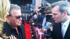 Host William Shatner is seen speaking with CTV Ottawa's Graham Richardson while on red carpet at the Juno Awards, Sunday, April 1, 2012.