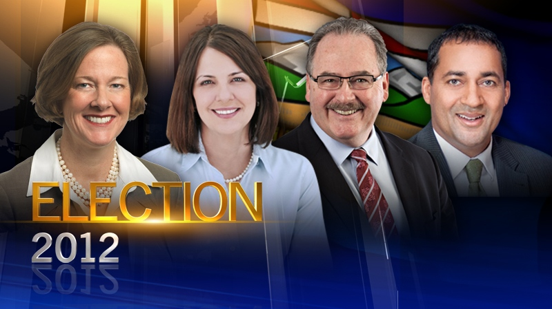 Alison Redford, Danielle Smith, Raj Sherman, Brian Mason, alberta election 2012, all leaders generic