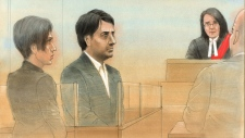 Jian Ghomeshi court sketch