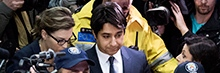 Ghomeshi met by media scrum in courthouse