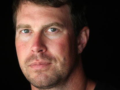 In this July 27, 2010, file photo, former NFL quarterback Ryan Leaf is shown in Holter Lake, Mont. Authorities say Leaf was arrested in his Montana hometown on burglary and drug possession charges on Friday, March 30, 2012. (AP Photo/Mike Albans, File)