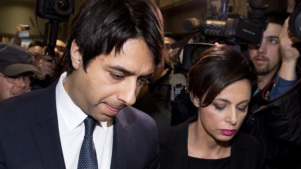 Jian Ghomeshi with lawyer Marie Henein