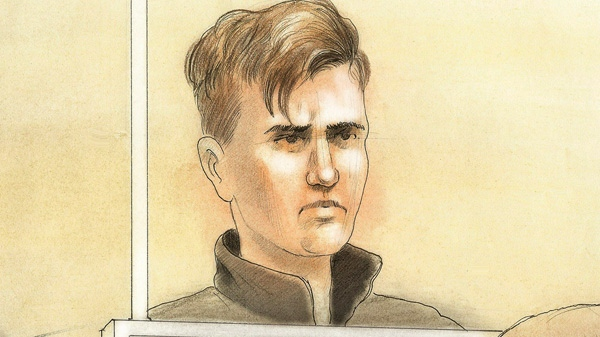 Oliver Karafa, who has been charged in a vehicular homicide, is seen in this court sketch in Toronto on Tuesday, April 3, 2012.