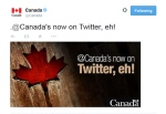The newly launched @Canada Twitter account is shown in this computer image.