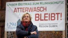 German mine protest