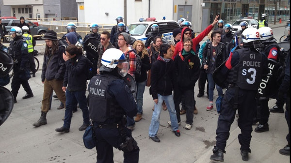 About 50 students were arrested after a protest in Montreal on Wednesday.