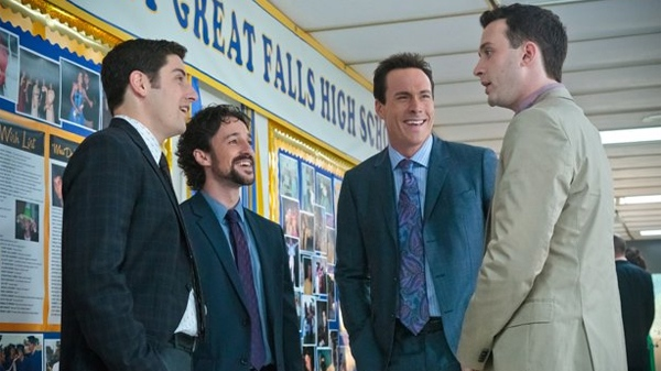 Jason Biggs, Thomas Ian Nichols, Chris Klein and Eddie Kaye Thomas in Universal Pictures' 'American Reunion.'