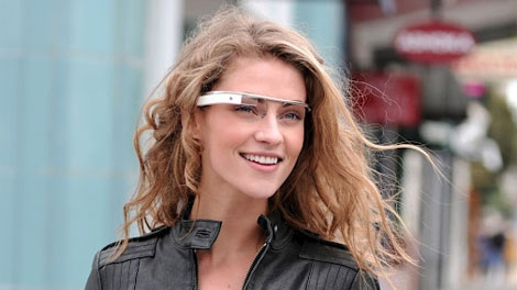 A promotional image of the Project Glass eyewear.