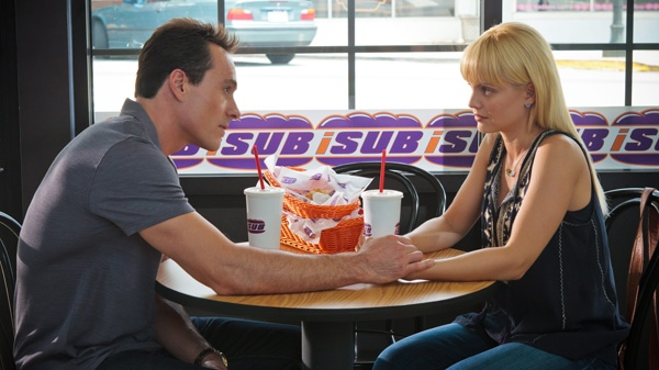Chris Klein and Mena Suvari are shown in a scene from Universal Picture's 'American Reunion.'