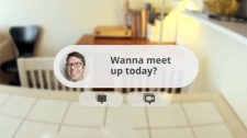 A still image from Google's conceptual video for Project Glass.