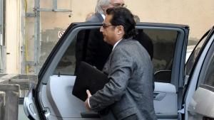 Francesco Schettino arrives at court in Grosseto, Italy, on Dec. 2, 2014. (AP / Giacomo Aprili)