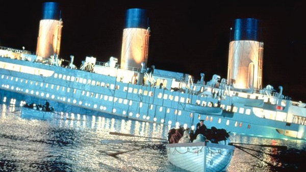 Scene from the movie 'Titanic.'