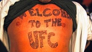 A UFC fan bares his allegiance in Austin, Texas, on Nov. 22, 2014. (AP / Michael Thomas)