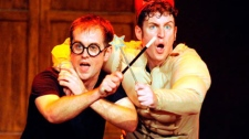 "Jeff Turner and Daniel Clarkson in ""Potted Potter."" (THE CANADIAN PRESS)"