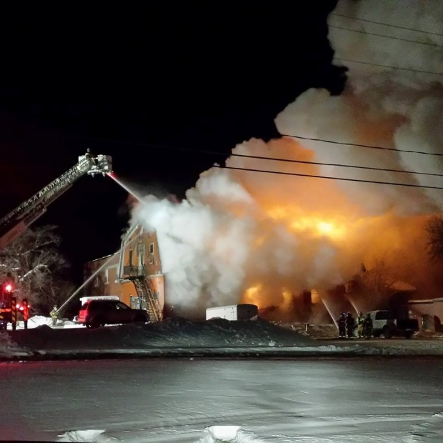 Fire Hall Burns Vancouver Island