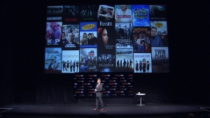 Bell Media President and CEO Kevin Crull unveils CraveTV at the Bell Lightbox in Toronto, Wednesday, Dec. 3, 2014.