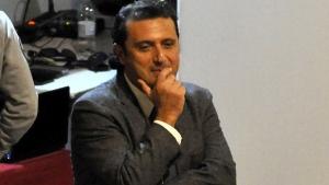 Francesco Schettino stands at the Grosseto court, Italy, Tuesday, Dec. 2, 2014. (AP / Giacomo Aprili)