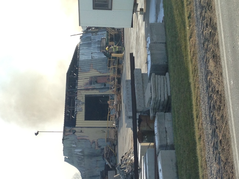 Fire ripped through a commercial building in the 1000 block of Shaw Road on Thursday, Dec.4, 2014.(Celine Moreau / CTV London)