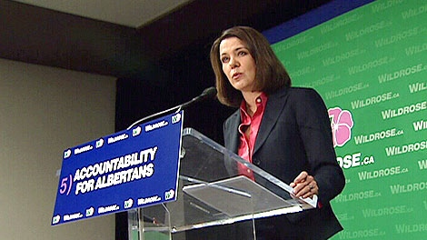 Wildrose Leader Danielle Smith unveils her party's fifth, and final campaign pledge Monday, April 9.
