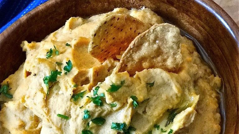 Looneyspoons Recipe: Roasted Sweet Potato & White Bean Dip