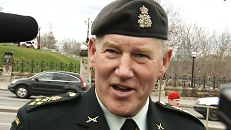 Canada's top soldier Gen. Walt Natynczyk speaks to CTV News in Ottawa on Monday, April 9, 2012.