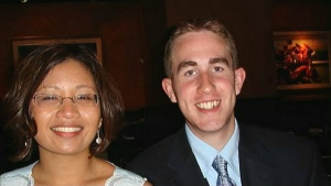 Philip Grandine and his wife Anna are seen in this file photo.