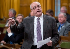 Julian Fantino speaks during question period