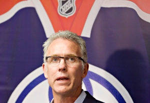 Edmonton Oilers General Manager Craig MacTavish is shown at a press conference in Edmonton, Alta., on Saturday June 8, 2013. (CP / Jason Franson)