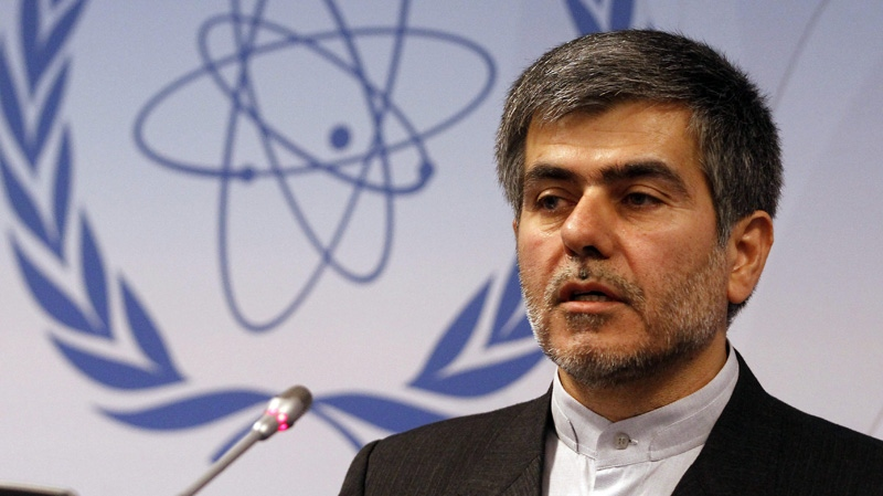 In this Monday, Sept. 19, 2011 file photo, Fereidoun Abbasi Davani speaks during a news conference at the International Atomic Energy Agency in Vienna, Austria. (AP Photo/Ronald Zak)
