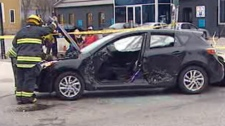 The collision was reported at Broadway and Sherbrook in Winnipeg on April 10, 2012.